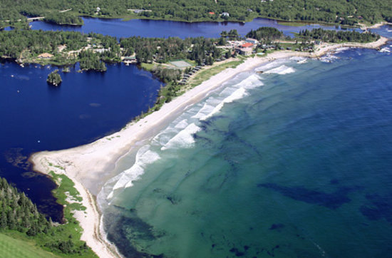 White Point Beach Resort, Nova Scotia - surrounded by the Atlantic Ocean and a freshwater lake,