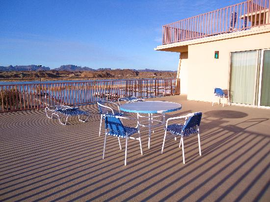 BlueWater Resort and Casino: our private deck