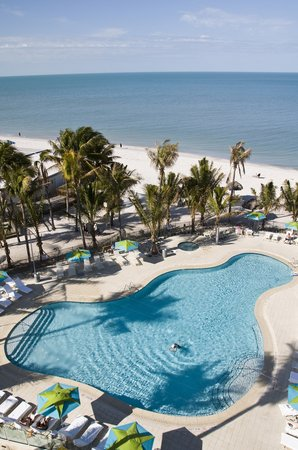 The Naples Beach Hotel &amp; Golf Club: New Pool Complex &amp; Gulf Of Mexico