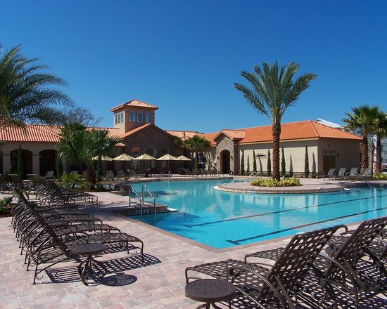 Davenport, Флорида: Tuscana Resort- Pool Area