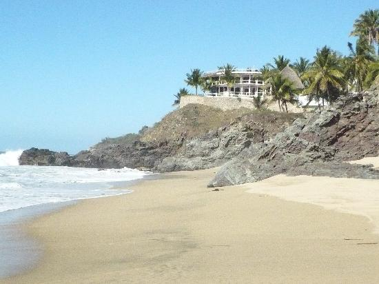San Pancho, México: beach and hotel 2010