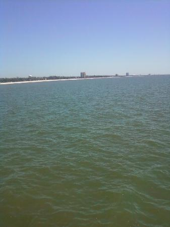 ‪‪Quality Inn Biloxi‬: beach view( not clear blue waters but has awesome piers)‬