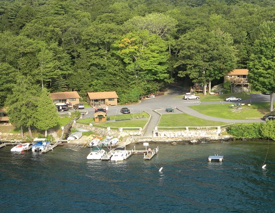 Candlelight Cottages LLC on Lake George: 300 feet of Lake George lakefront - docks, boats, swimming