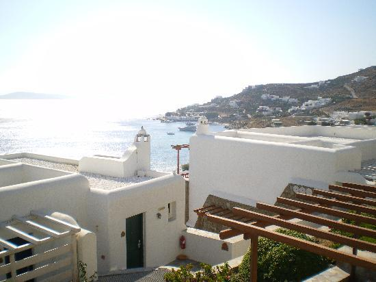 Mykonos Grand Hotel & Resort: Panorama dalla camera