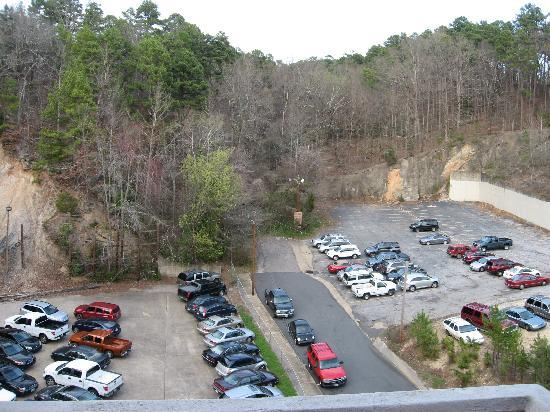 The Springs Hotel & Spa: parking area behind hotel