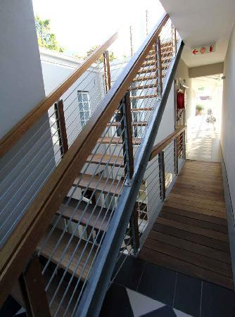 The Three Boutique Hotel: stairs to the hotel roof deck