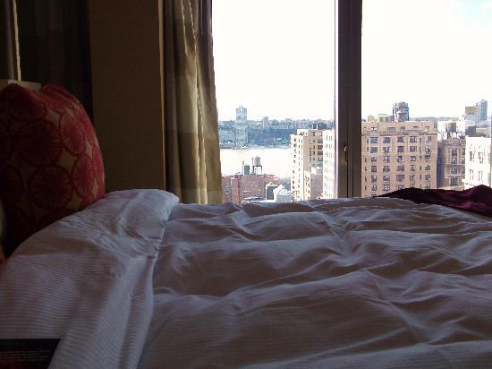 On The Ave Hotel: the view from our bed - room 1605