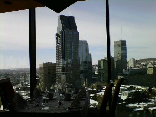 Delta Centre-Ville: view from the revolving restaurant