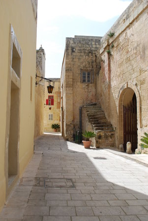 , : Street in Mdina