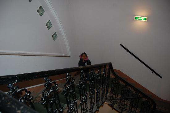 Mercure Josefshof Wien: My son enjoying stairs walk