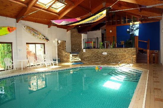 Heated indoor swimming pool - Picture of Higher Bowden Holiday ...