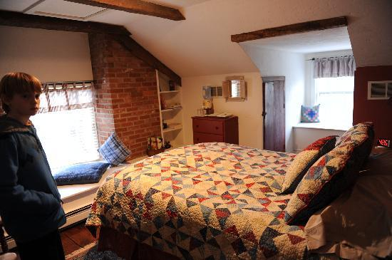 The Lightner Farmhouse: the master bedroom of our suite
