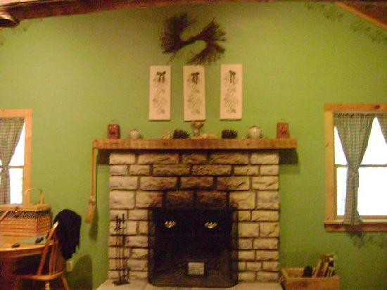 Hocking Hills Cabins: Fireplace