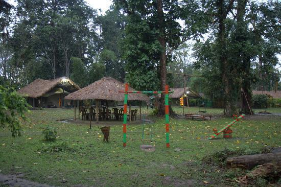 Nameri Eco Camp: Children's play area outside the 'Gol ghar'