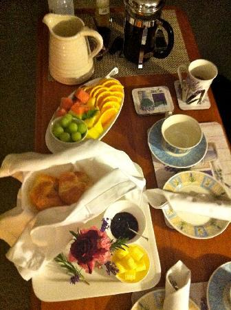 Renwick, Nya Zeeland: Part of our breakfast which was such a great start to the day.