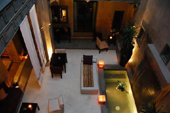 Riad Dar One: central courtyard