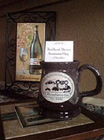 A Mooseberry Inn B&B: Our beautiful mugs are for sale too