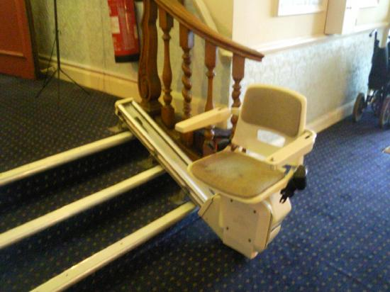 Bay Torbay Hotel: The shortest stairlift in the world?
