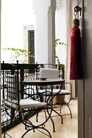 Riad Farnatchi: Suite 5 private balcony