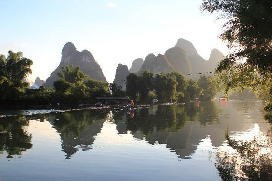 Guilin, Kina: sunset scenery