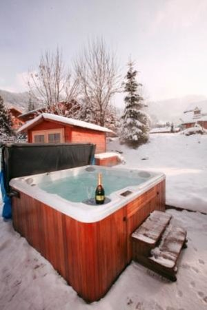 Chalet Tzigane: Hot tub