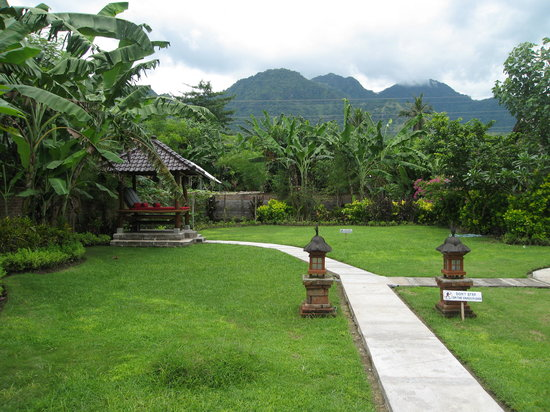 Kubuku Ecolodge and Resto: Garden with Hill view