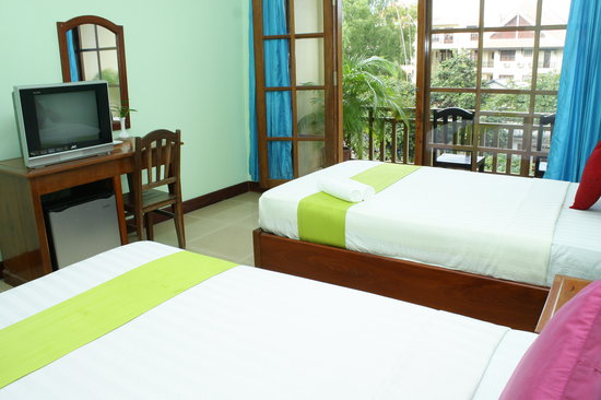 Mekong Boutique Hotel: twin balcony ensuite