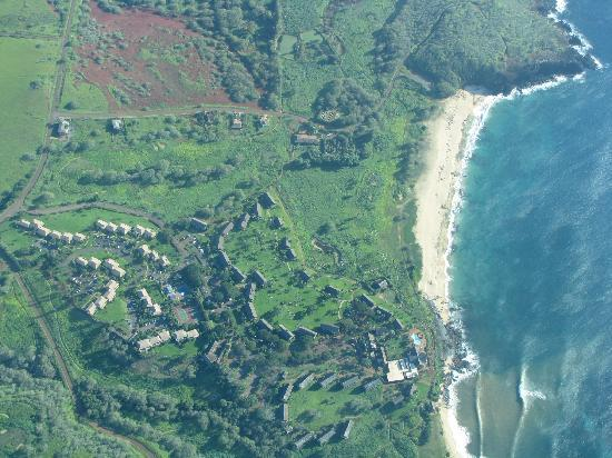 Molokai Hilltop Cottage &amp; West End Studio: Aerial Shot of the Studio