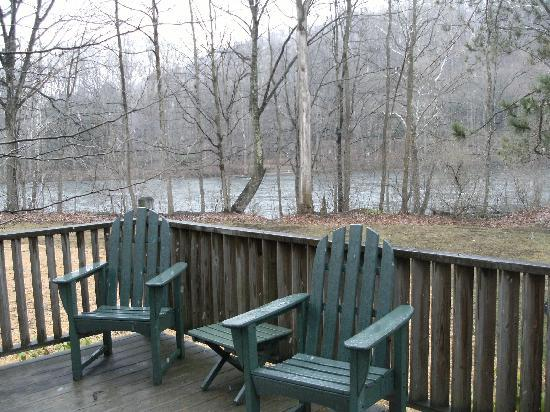 "Paddler's Lane Bed & Breakfast: View of the ""Yock"" from deck"
