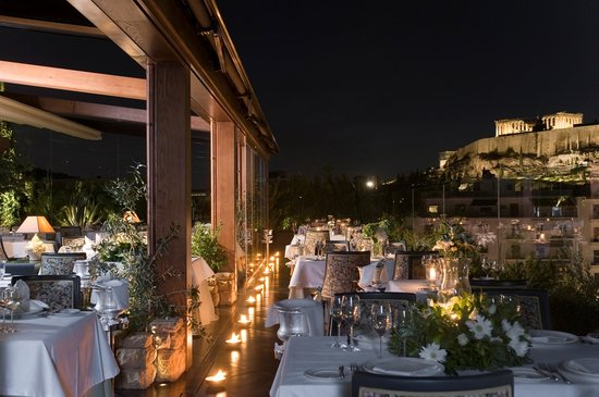 Royal Olympic Hotel: 'IOANNIS' Roof Garden Restaurant