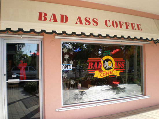 Valuable piece Bad ass coffee shop