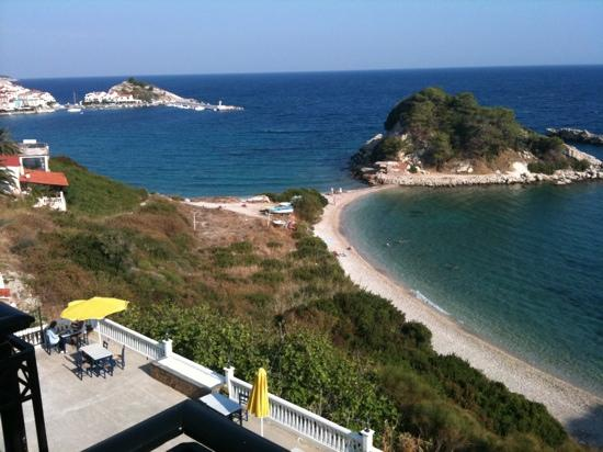 Kokkari, Greece: the view from Sun Rise Beach Hotrl