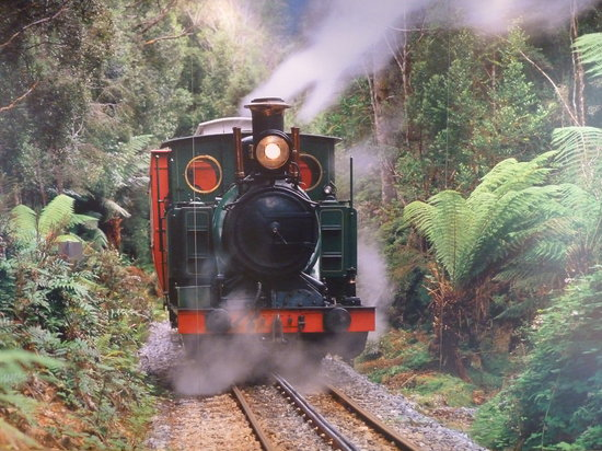 Strahan, Australia: The train