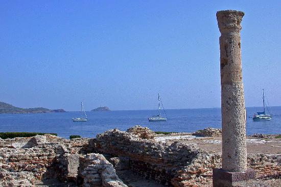 Pula, Italy: Anchorage from Nora roman ruins