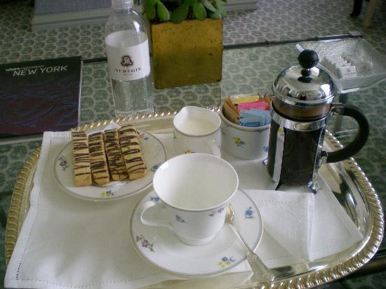 The St. Regis New York: Butler coffee service