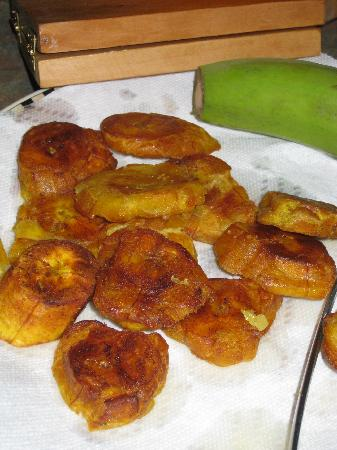 ... Rhum Bar Photo: Sweet Plantains.....Tostones -- fried green plantains