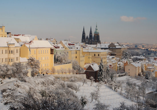 Prague, Czech Republic: Castle from Petrin Hill 2