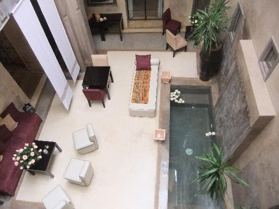 Riad Dar One: Courtyard from the 1st floor