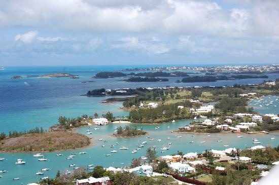 Southampton, Bermudas: View from the top of the lighthouse