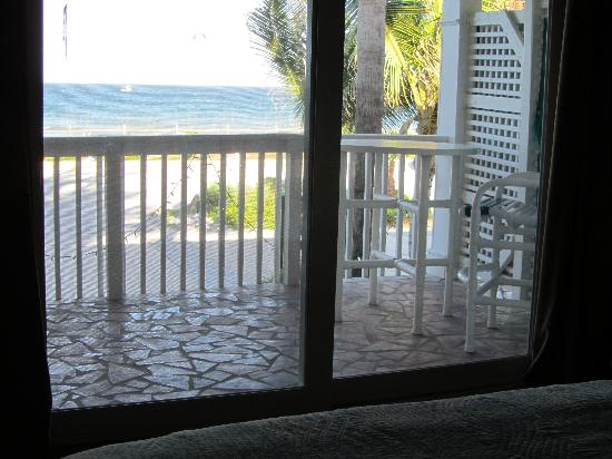 Oceanfront Cottages: scene viewed from bed