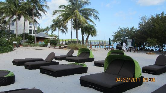 Hyatt Beach House Resort: Cushioned Loungers