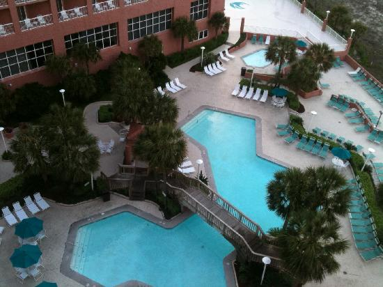 Perdido Beach Resort: Partial view of pool area from room 8010
