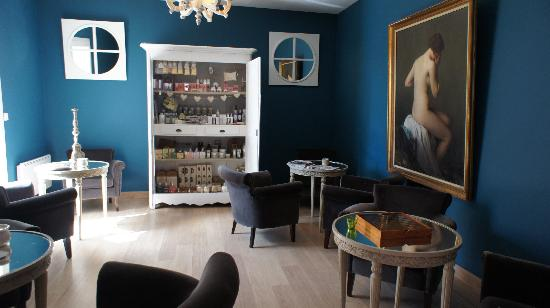 Petit salon bleu photo de l esprit jardin bedoin for Peindre son salon en gris