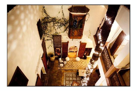 Zamzam Riad: The courtyard