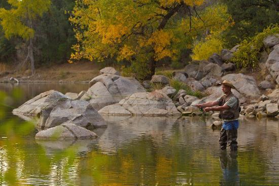 Fly fishing at Goldwater Lake in Prescott.