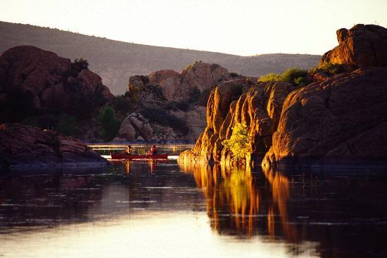 Sunrise at Watson Lake in Prescott.