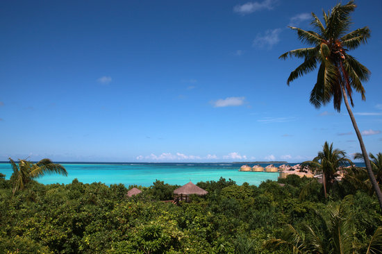 Six Senses Laamu: View over the lagoon