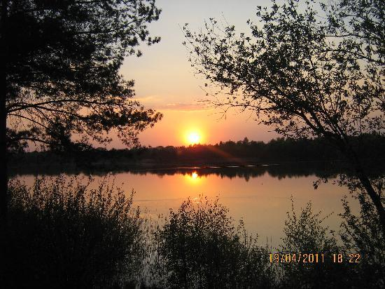Westerhoven, The Netherlands: Our sunset each evening uninterupted view