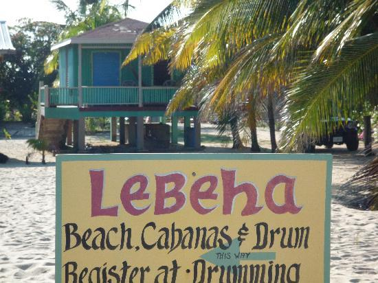 Lebeha Drumming Center & Cabanas : Cabana on the beach
