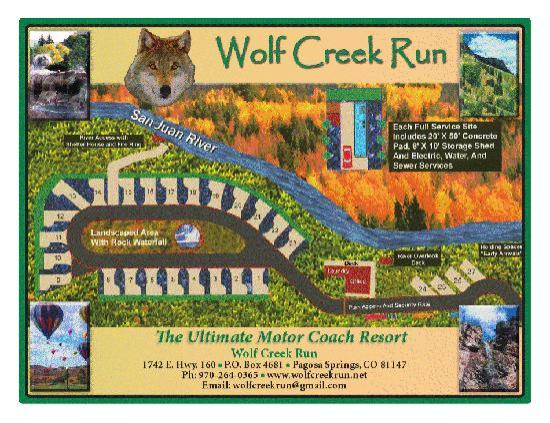 Wolf Creek Run Motorcoach Resort: SITE MAP